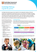 Cambridge 5 to 19 years factsheet