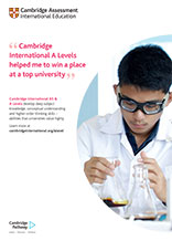 Cambridge AS and A Level poster