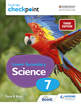 Cambridge Checkpoint Lower Secondary Science (Third edition) (Hodder) textbook cover