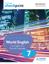 Cambridge Checkpoint Lower Secondary English (Third edition) (Hodder) textbook cover