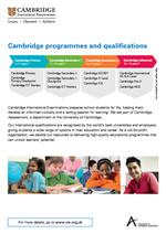 Cambridge programmes and qualifications poster