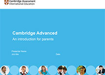 Cambridge Advanced presentation