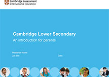 Cambridge Lower Secondary presentation