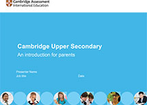 Cambridge Upper Secondary presentation