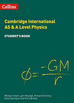 Cambridge International AS & A Level Physics front cover (Collins)