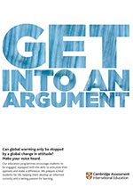 Get into an argument poster