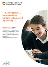 Cambridge IGCSE poster