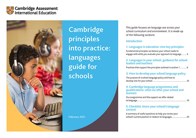 Cambridge principles into practice: languages guide for schools