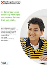 Cambridge Lower Secondary poster