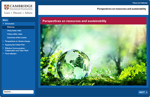 Cambridge Global Perspectives Online Learning image