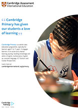 Cambridge Primary poster
