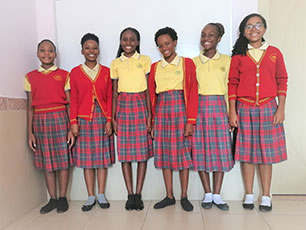 Students from Willow School, Mozambique