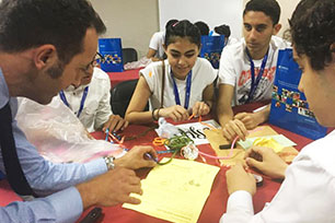 Students attending Science Forum in Egypt