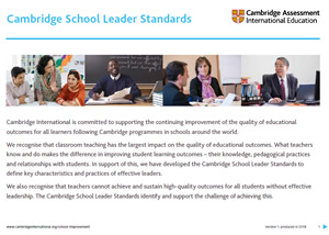 Cambridge School Leader Standards